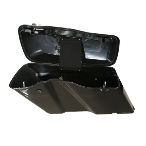 """5/"""" Stretched Extended Saddlebags W// Latch Key Fit For Harley Touring 14-19 17 18"""