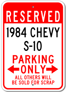 1984-84-CHEVY-S-10-Parking-Sign