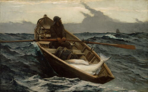 Winslow Homer The Fog Warning Giclee Canvas Print  Poster