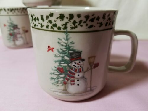 We Can Build A Snowman Stoneware Set of 4 Cups