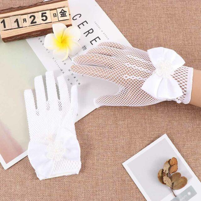 Wedding Dress Costume Accessories for Girls Ladies Mesh Gloves Princess Gloves ~