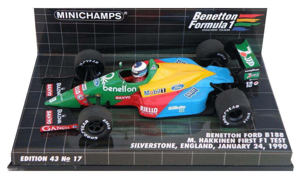 Minichamps Benetton B188 First F1 Test 1990 - Mika Hakkinen 1 43 Scale