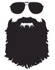 Beard vinyl decal sticker funny meme