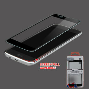 FULL COVERAGE TEMPERED GLASS SCREEN PROTECTOR FOR LG TRIBUTE 5 K7 TREASURE LTE