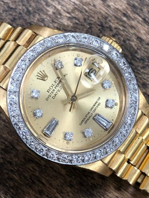 ROLEX Vintage 1979 6917 LADIES PRESIDENTIAL DIAMOND DIAL BEZEL 18k GOLD