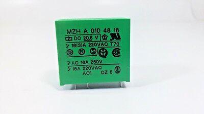 10 Pcs FEME Relay MZH A002 48 16 PCB DPDT Mount 16A 250V AC 6 Pin Through Hole