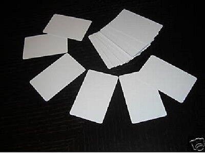 50 PVC Plastic Photo ID Blank Credit Card CR80 30Mil White