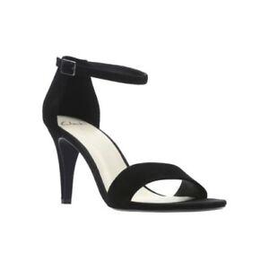 Clarks Black Suede ladies ankle strap