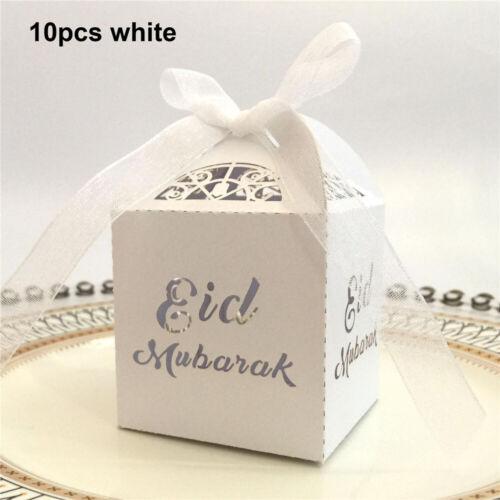 Gift Bags Supplies Gold Silver Laser Cut Candy Box Paper Gift Boxes Eid Mubarak Home Garden Gefradis Fr
