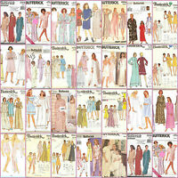 Butterick Sewing Pattern Misses Nightgown Robes Pajamas Loungewear You Pick