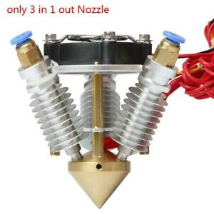3-in-1-out-Duese-Messing-Extruder-Diamond-Hot-End-0-4-mm-fuer-1-75-mm-3D-Druckerte
