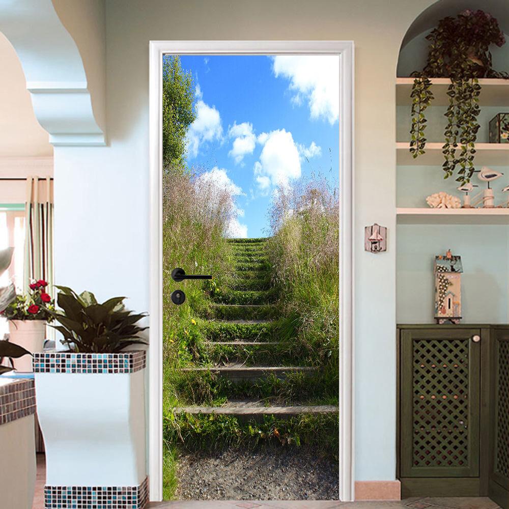 3D Die Treppe 732 Tür Wandmalerei Wandaufkleber Aufkleber AJ WALLPAPER DE Kyra | New Style  | Großartig  | Leicht zu reinigende Oberfläche