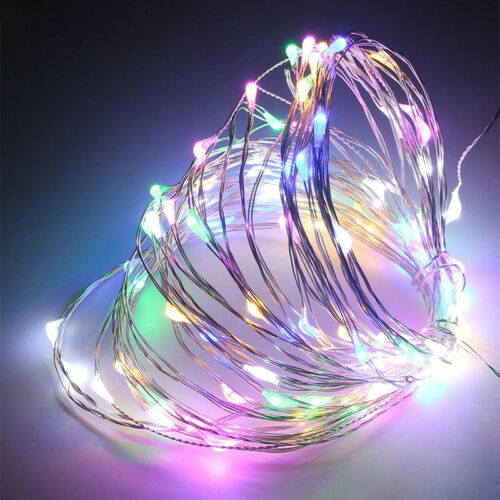 20-50Micro LED Glitter Silver Copper Wire Battery Fairy Lights Steady On//Off DIY