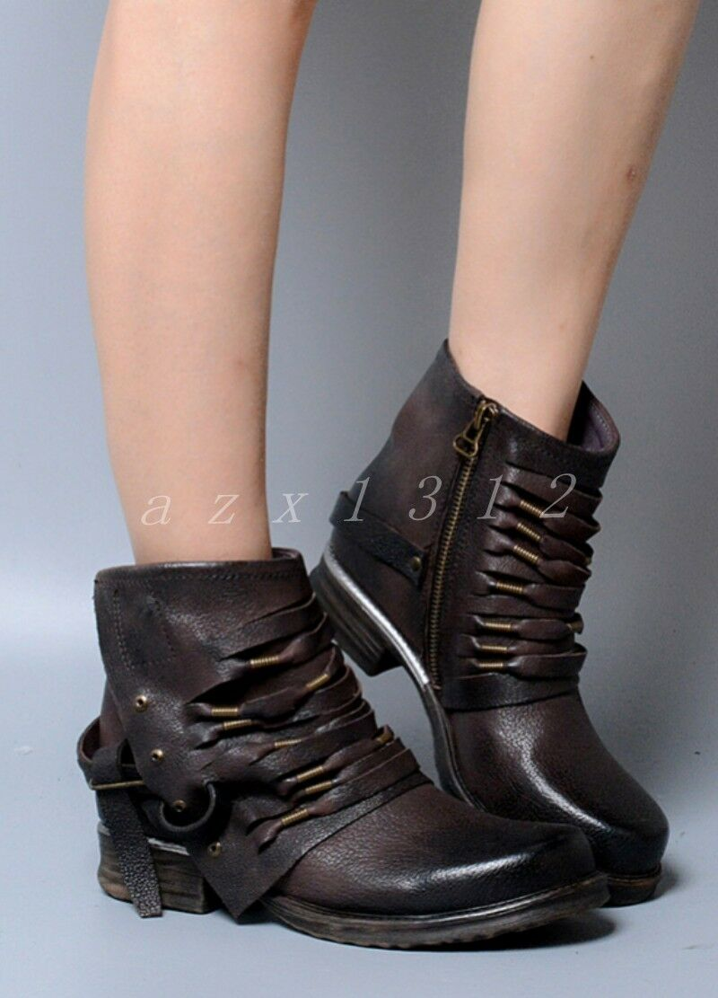 Hot Hot Hot Sale Womens Buckle Ankle Boot Ladies Roma Gladiator Punk Low Heel shoes Size 16b87c