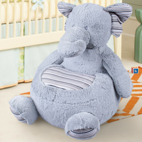 Divano Poltroncina Divanetto Bambini Maxi Peluche Elefante con seduta Imbottita