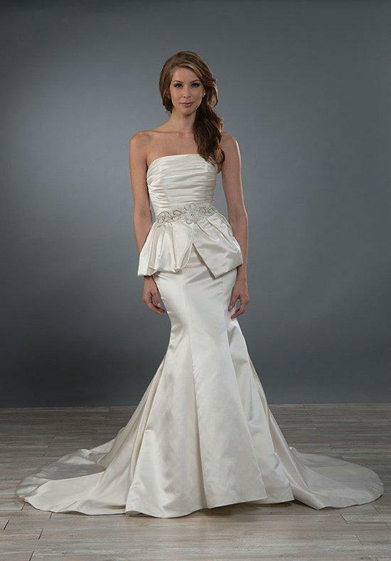 Alfred Angelo 2473 Pearl Size 12 Strapless Floor Length Wedding Dress (NEW)