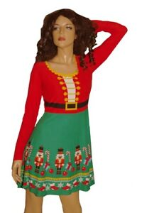 cf1ab42915 Image is loading Womens-TOY-SOLDIER-Dress-Nutcracker-Ugly-Christmas-Sweater-