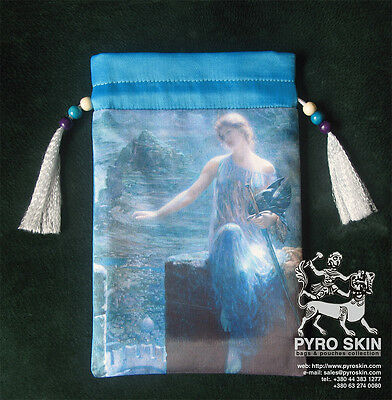"""The Valkyrie's Vigil"" - silk Tarot bag"