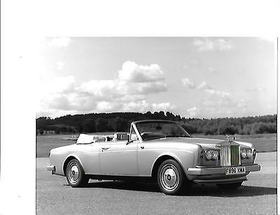 Rolls Royce Corniche 2 Original Black /& White Press Photograph