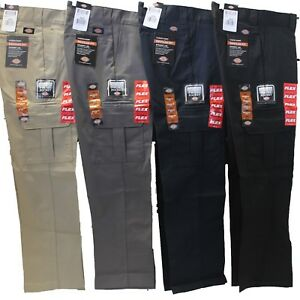 various styles cheap prices retro Details about Mens DICKIES Flex WP595 Regular Fit Straight Leg Work Uniform  Cargo Pocket Pants