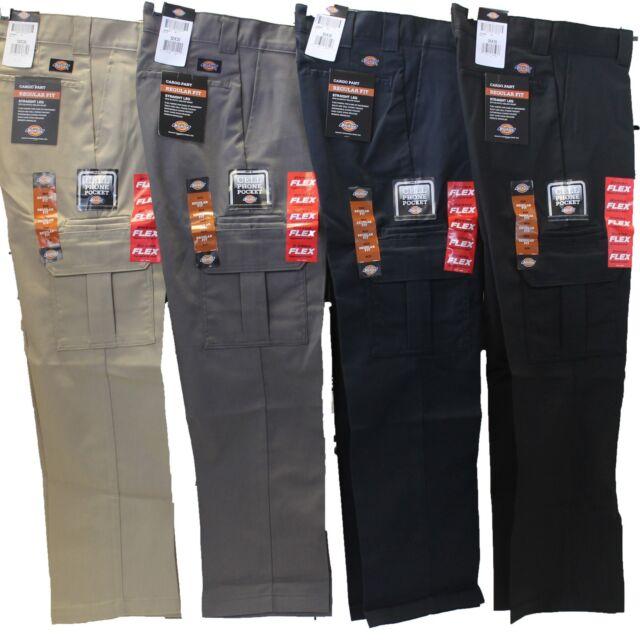 31fc0e60c84 Mens DICKIES Flex WP595 Regular Fit Straight Leg Work Uniform Cargo Pocket  Pants