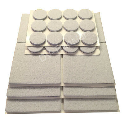 Oak Wooden Protection Laminate Floor Furniture Protectors Felt Pads 12x 48 Grey
