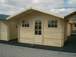Gartenhaus Fußboden Versiegeln ~ 28mm gartenhaus 3 80x3 00m 1 2m vordach mit 28mm fußboden blockhaus