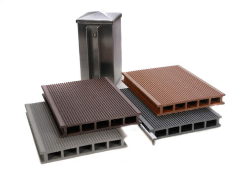 Musterbox WPC Sichtschutz Zaun Windschutz Element Holz Kunststoff