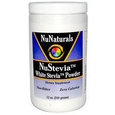 Polvo De Stevia-NuNaturals NuStevia - 12oz 340g-cero calorías Edulcorante Natural