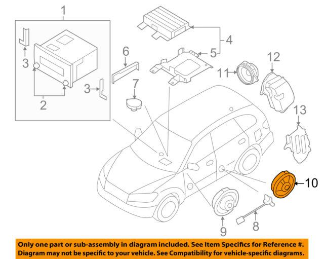 08-10 Hyundai Sonata Front Rear Right Left Door Speaker 96330-0A002 OEM 09 b179