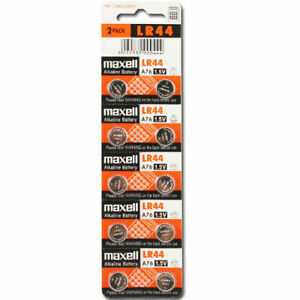 LR44-Maxell-10-piece-LR44-MAXELL-A76-L1154-AG13-357-New-Alkaline-Battery