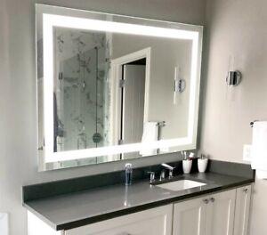 LED Bathroom Vanity Mirror wall mounted Lighted Mirror ...