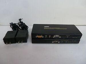 Aten KVM USB Extender RS-232 Connectivity Local Unit CE750L Remote Unit CE750R