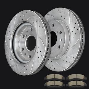 OE Replacement 2007 2008 GMC Yukon XL1500 2WD//4WD Rotors Ceramic Pads F+R