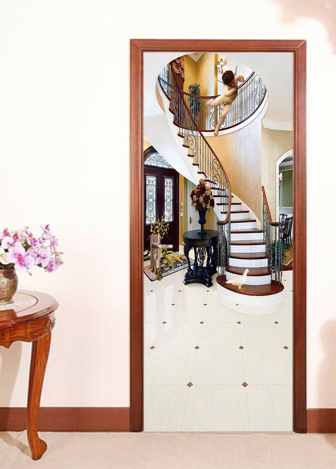 3D Engel 745 Tür Wandmalerei Wandaufkleber Aufkleber AJ WALLPAPER DE Kyra | Optimaler Preis  | Niedrige Kosten  | Sehr gelobt und vom Publikum der Verbraucher geschätzt
