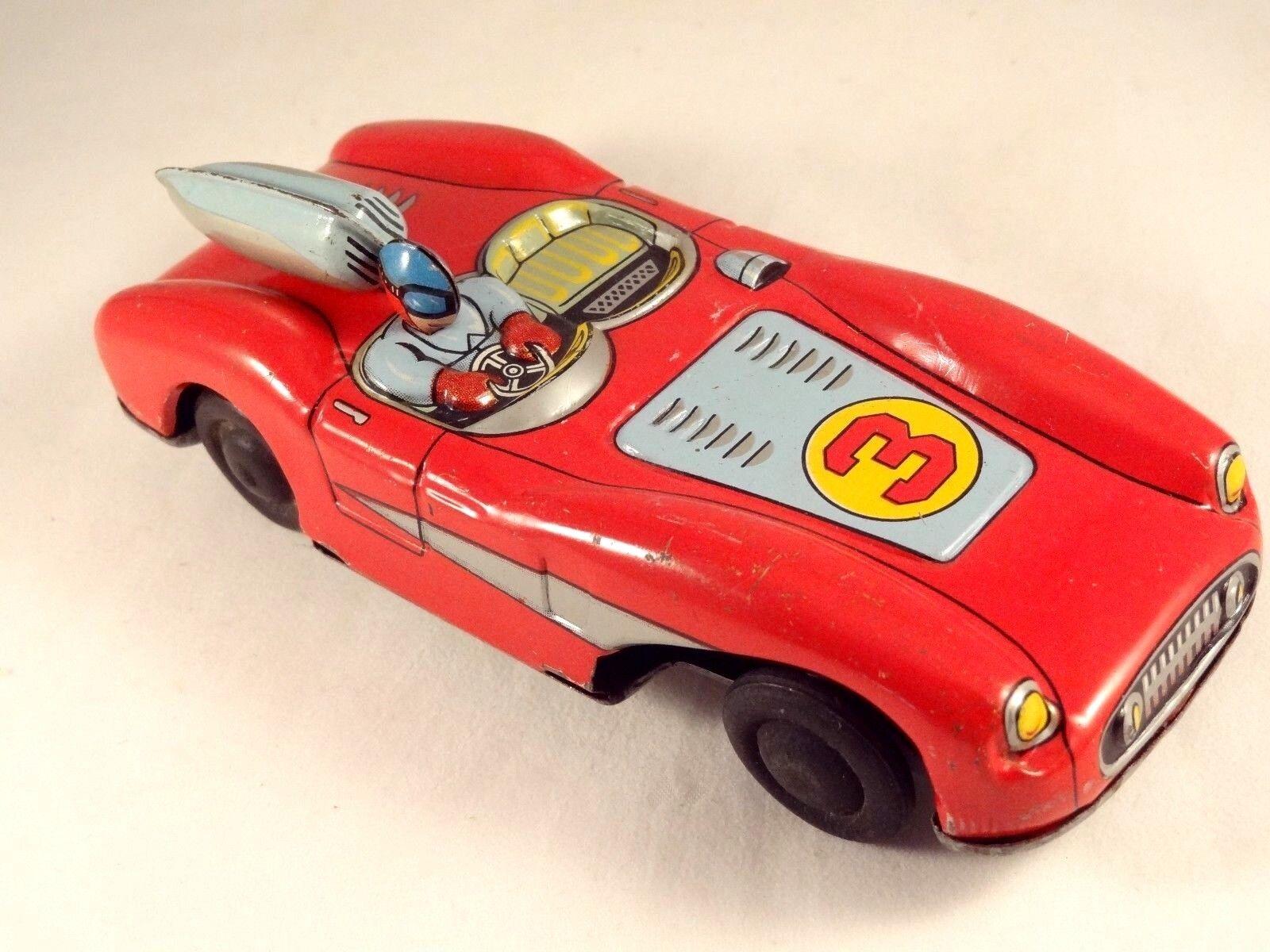 Ancien jouet rare voiture de course tôle lithographiée années 50 Foreign