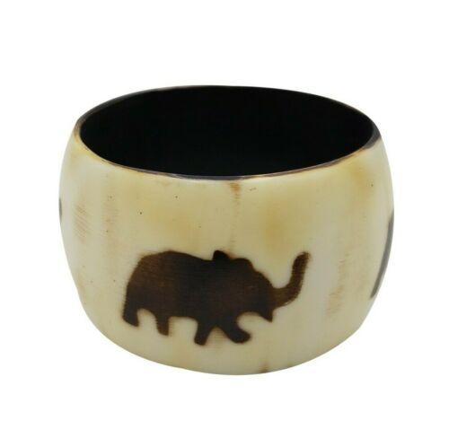 Resina Grueso Brazalete Elefante africano de joyería de moda impresión Batik