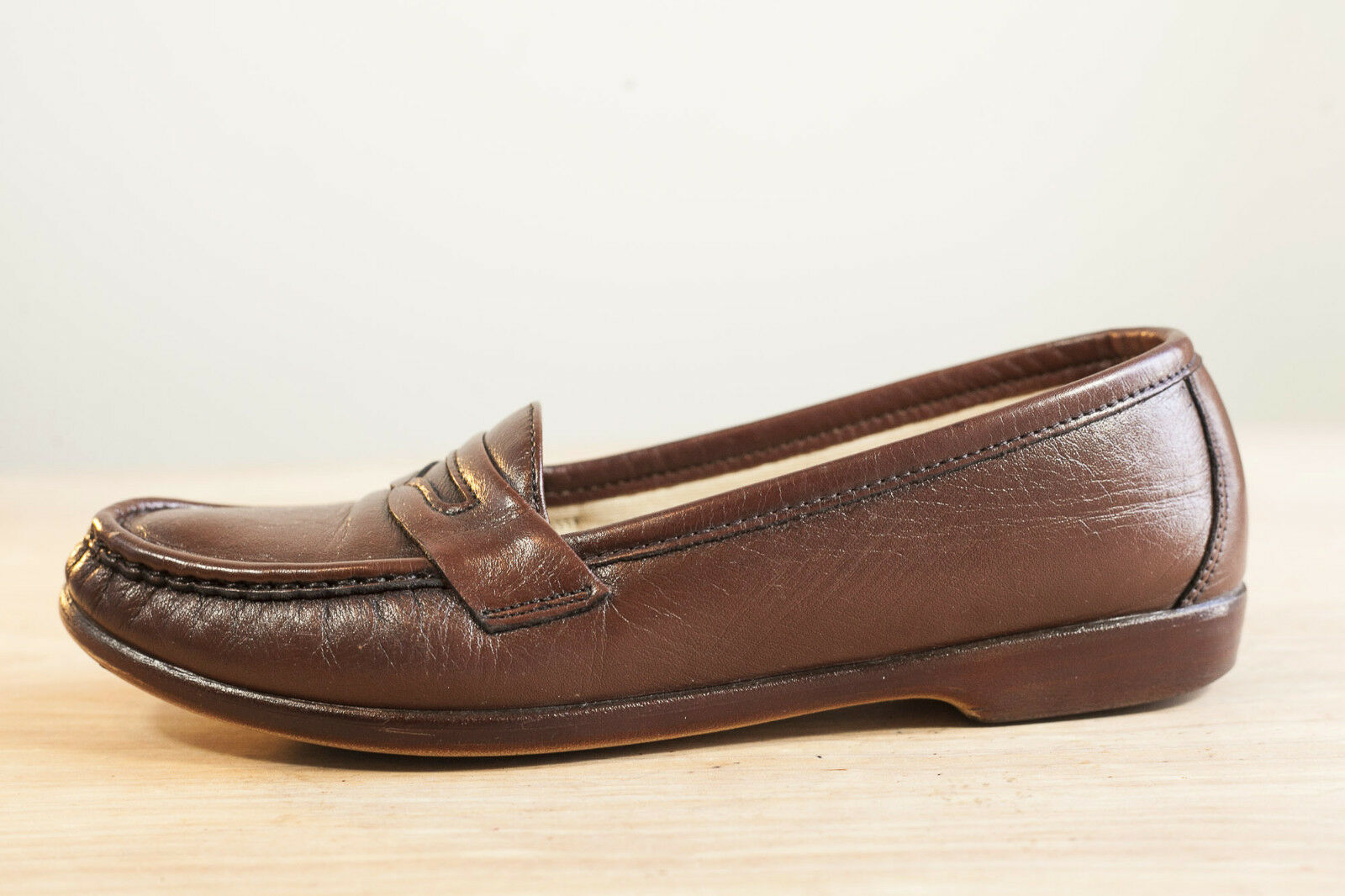 SAS 8 Narrow Brown Slip-On Loafer Women's shoes