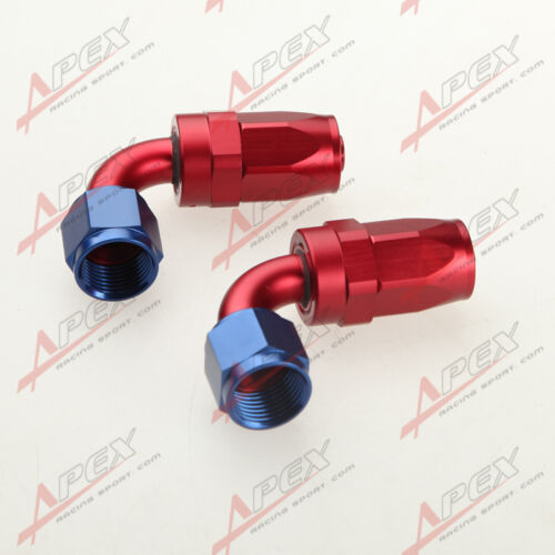 AN12 12AN Stainless Steel Braided Oil//Fuel Hose Fitting Hose End Adaptor Kit
