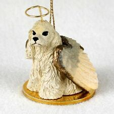 COCKER SPANIEL dog ANGEL Resin Ornament Figurine NEW Christmas BLONDE puppy NEW