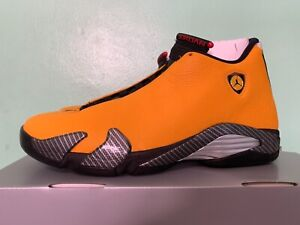 promo code 25b36 68f17 Details about Nike Air Jordan Retro 14 XIV Yellow Reverse Ferrari  University Gold BQ3685-706