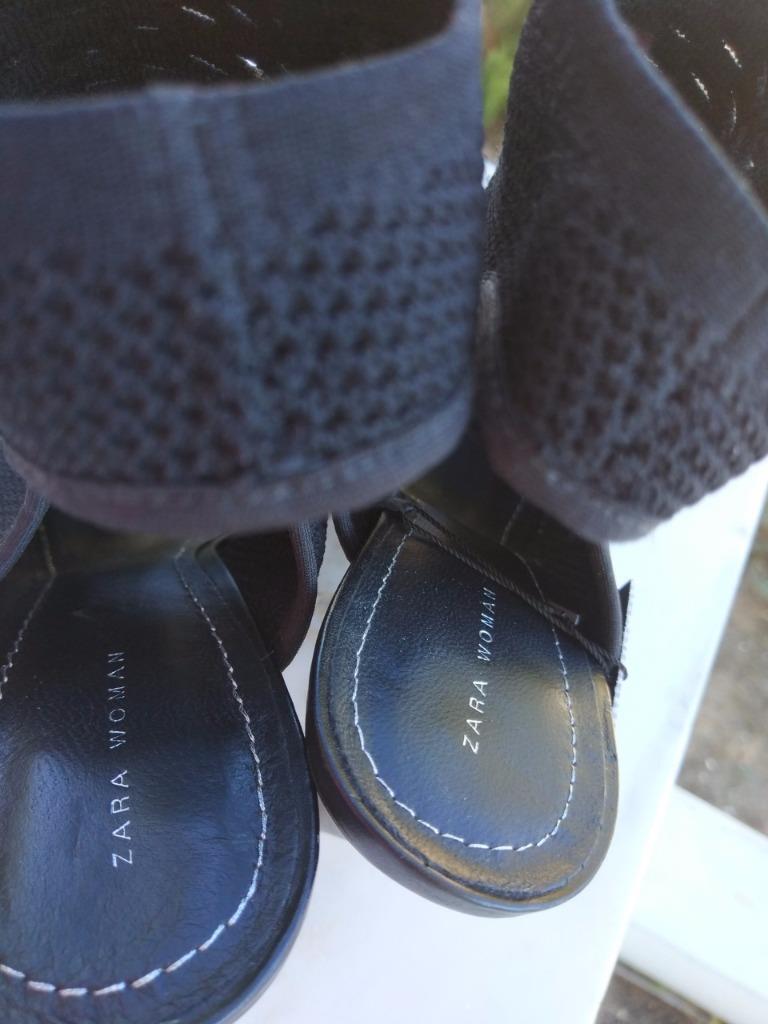 BNWT ZARA HIGH  HEEL BLACK NEOPRENE SOCK  HIGH Stiefel  s.EU 41 UK 8 US 10 Ref.1536/201 a618db