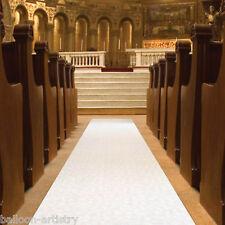 100ft Elegant Flowers White Wedding Party Church Aisle Floor Runner Decoration