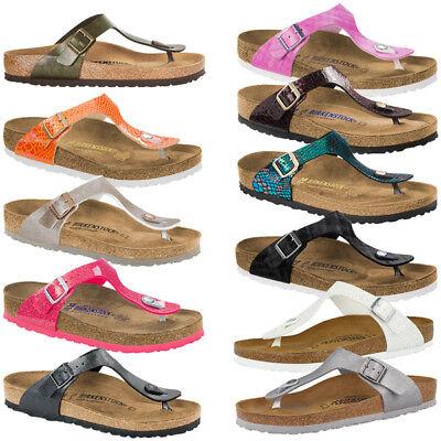 on sale 8c10b 6fd2d Birkenstock Gizeh Birko-Flor Damen Schuhe Zehentrenner Flip Sandale  Zehensteg | eBay