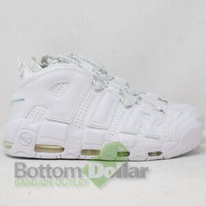 f78adbb915b Nike Air More Uptempo  96 Leather Basketball Shoes 921948-100 Triple ...