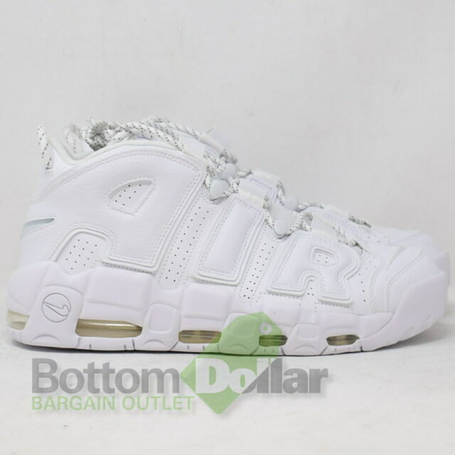 472d6a96be4 Nike Air More Uptempo  96 Leather Basketball Shoes 921948-100 Triple White  (11
