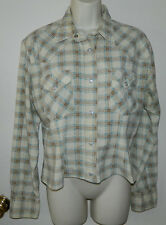 Women Replay Long Sleeve Multi-color Casual Work Button Down Shirt M/L Italy