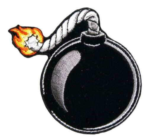 "Motorcycle Biker Uniform Patch 2.75/"" x 3/"" Lit Bomb Explosive"