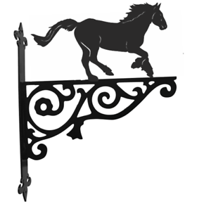 Cob Horse Metal Ornamental hanging Bracket