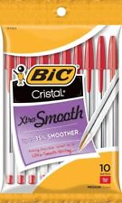 Bic Cristal Xtra Smooth Ballpoint Pen Medium Point 10mm Red 10 Count